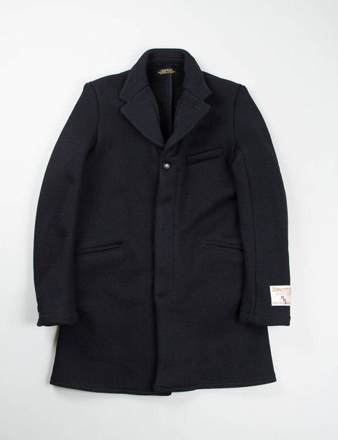 Solid Black Chesterfield Coat