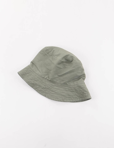 Olive Cotton Double Cloth Bucket Hat