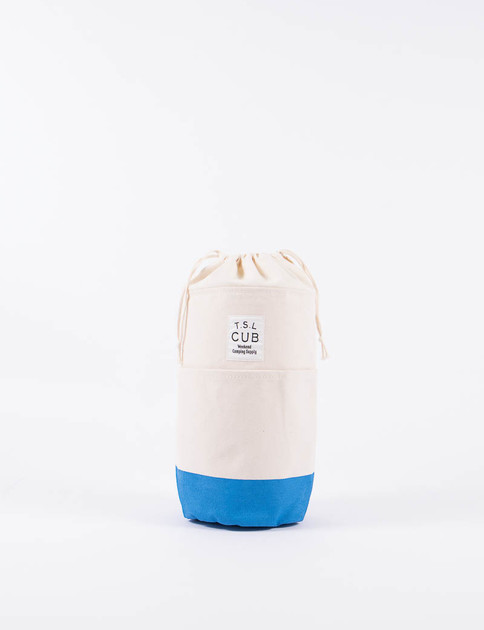Natural/Blue Lantern Bag
