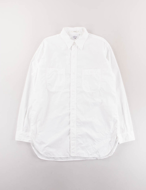 White Poplin Vintage Fit Work Shirt