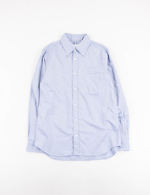 Blue Soft Cotton Twill BD Shirt