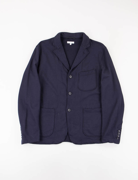 Dark Navy French Terry Knit Blazer