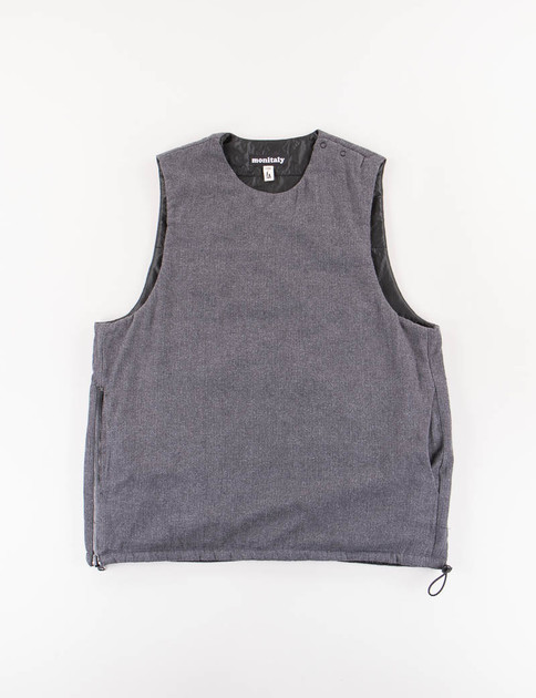 Charcoal HB Flannel Insulated Vest