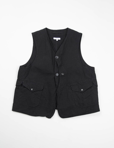Black 7.5oz Denim Upland Vest