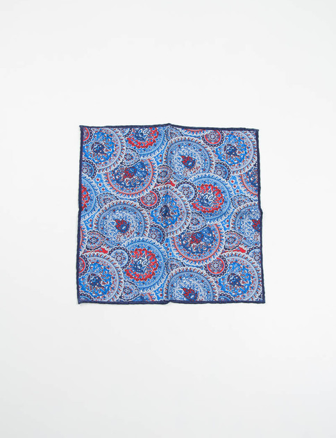 Navy Paisley Pattern Pocket Square