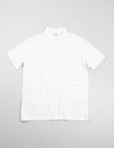 White Jersey Polo Pocket T–Shirt