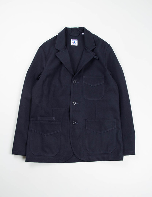 Navy Wool/Cotton Serge Villefranche Jacket