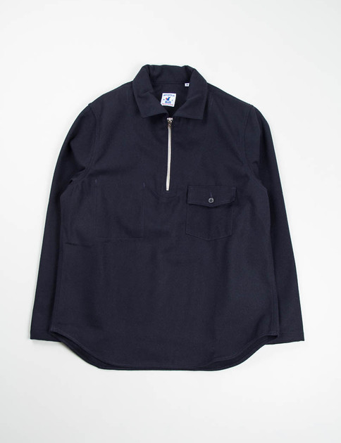 Navy Wool/Cotton Serge Goemon Jumper