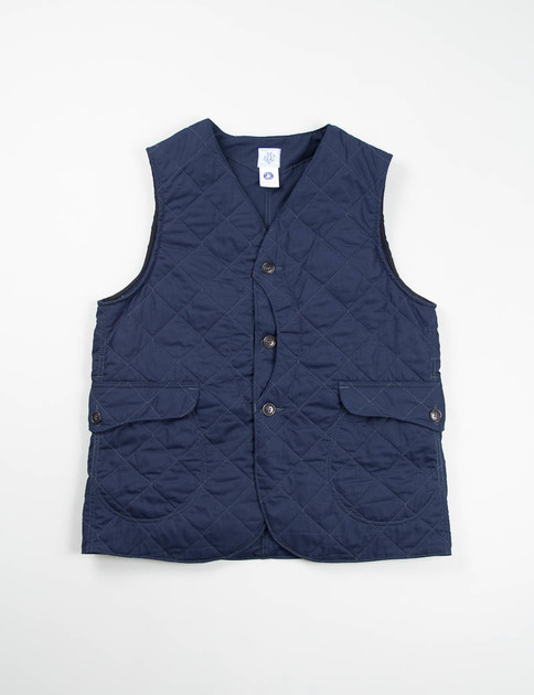 Navy P/C Hi–Count Poplin Quilt Royal Traveler Vest