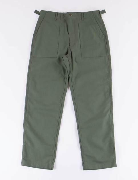 Olive Reversed Sateen Fatigue Pant