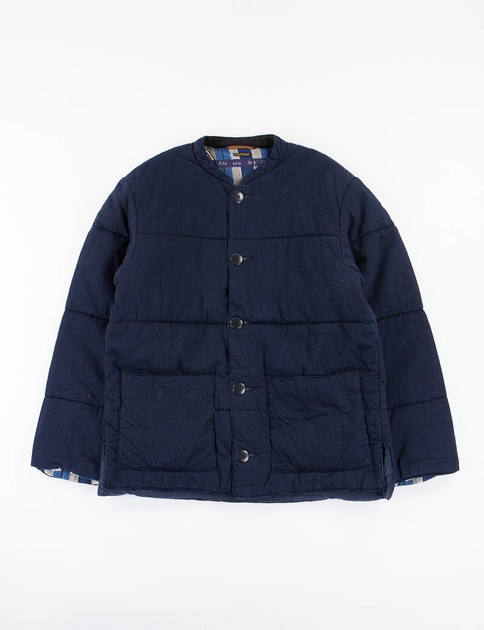 Indigo 8oz Denim Quilt Work Blouson