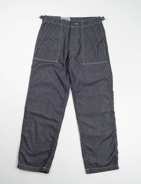 Black 6oz Denim Fatigue Pant