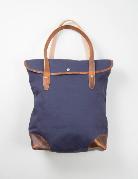 Navy Go To Work Tote Bag