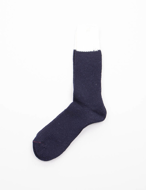 Navy/Natural Tonal Socks