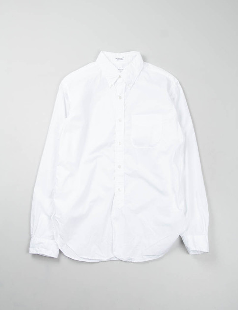White 100s 2Ply Broadcloth 19th Century BD Shirt