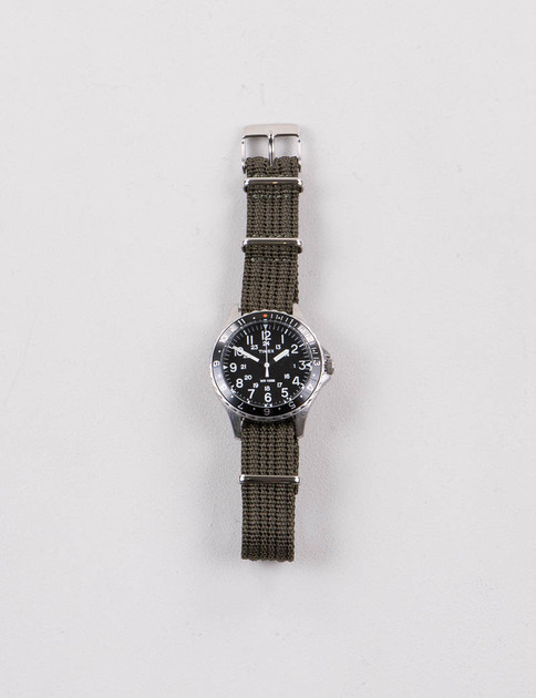 Steel/Black w/ Olive Drab Strap Navi Ocean Watch