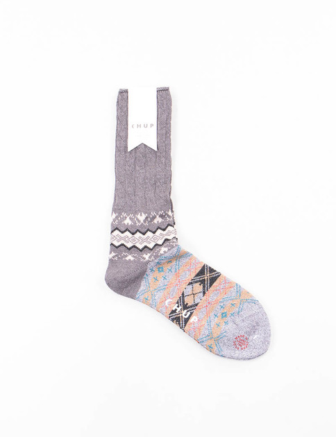 Charcoal Winter Garden Socks