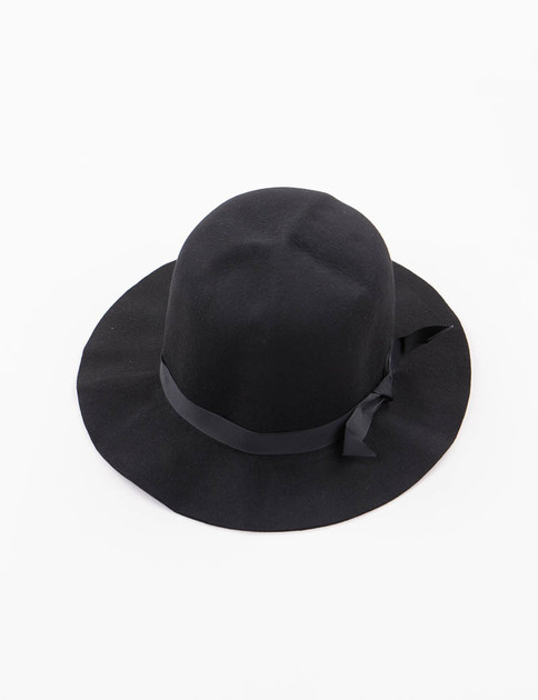Black Felt Crushable Leisure Hat