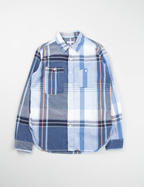 Navy/Orange Big Plaid Work Shirt
