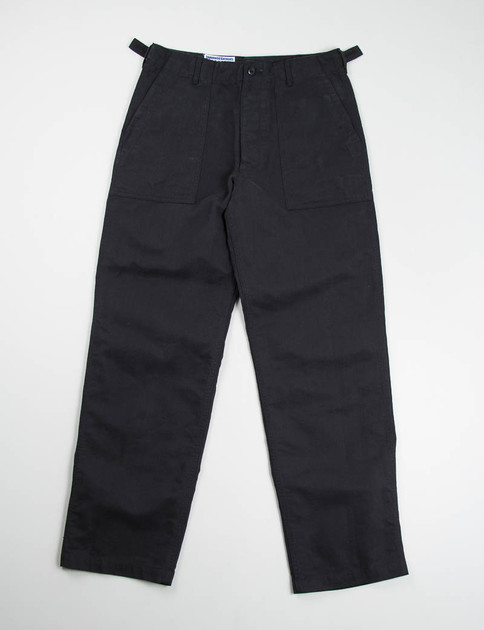 Black Bedford Cord Fatigue Pant