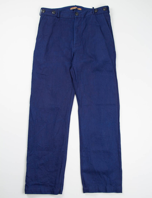 Indigo Twill Denim Sava Trousers