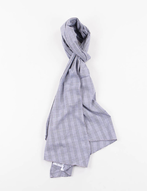 Grey Glen Plaid Long Scarf