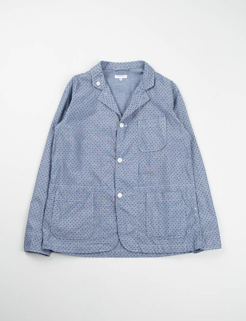 Indigo Polka Dot Chambray Loiter Jacket