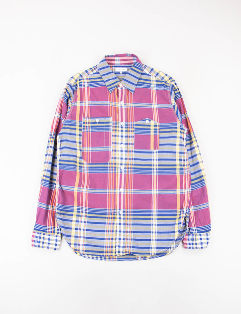 Red/Blue/Yellow Big Plaid Work Shirt