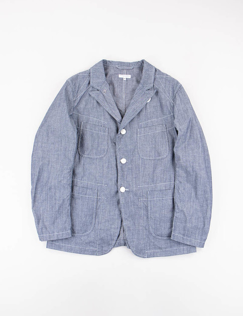Blue Cone Chambray Bedford Jacket