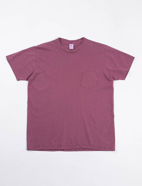 Burgundy Pigment Dye Pocket Tee