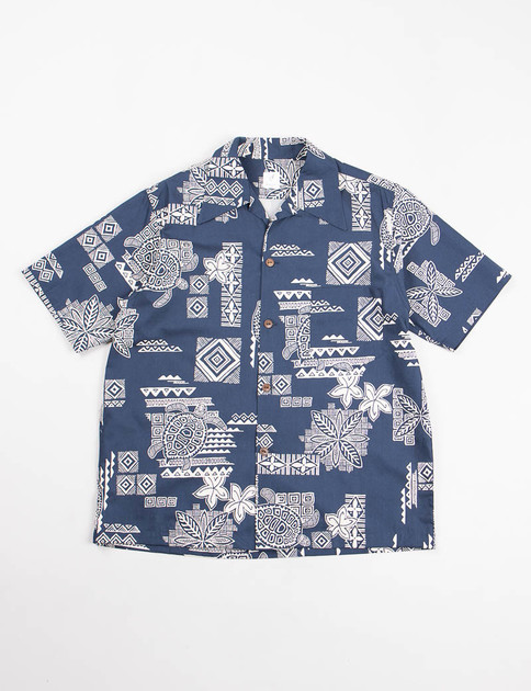 Navy Hawaiian Shirt