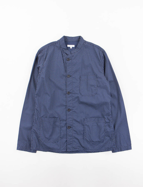 Dark Navy Cotton Polka Dot Dayton Shirt