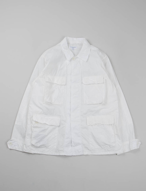 White High Count Broadcloth BDU Jacket