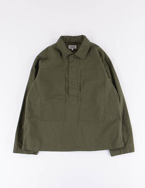 Olive Cotton Ripstop Army Shirt