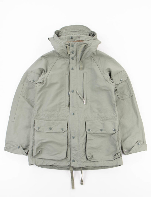 Olive Cotton Double Cloth Field Parka