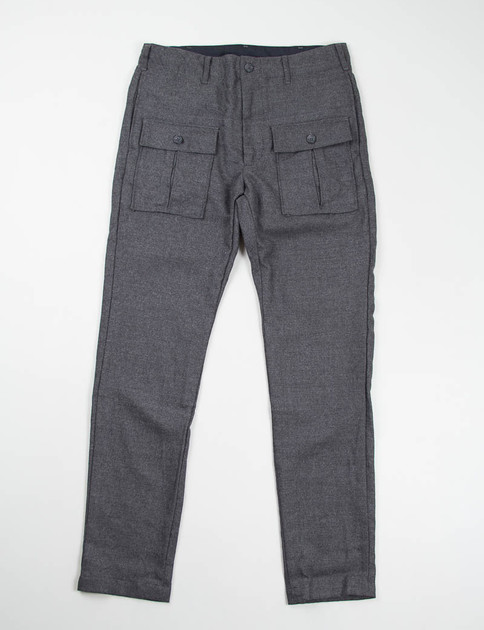 Heather Grey Worsted Wool Flannel Huntsman Pant