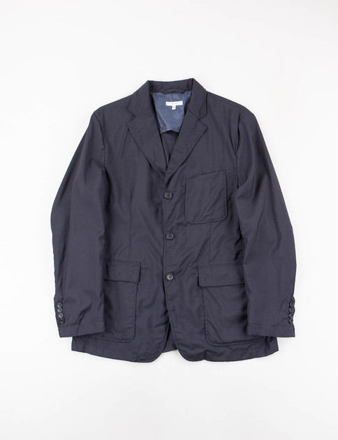 Navy Tropical Wool Baker Jacket