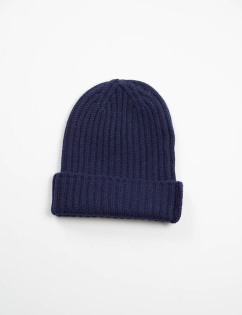 Dark Navy Sweater Cashmere Beany Cap