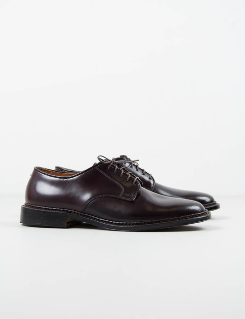 Color 8 Cordovan Plain Toe Blucher