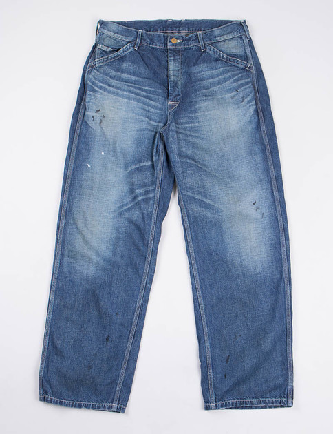 Indigo Washed Denim Utility Pant