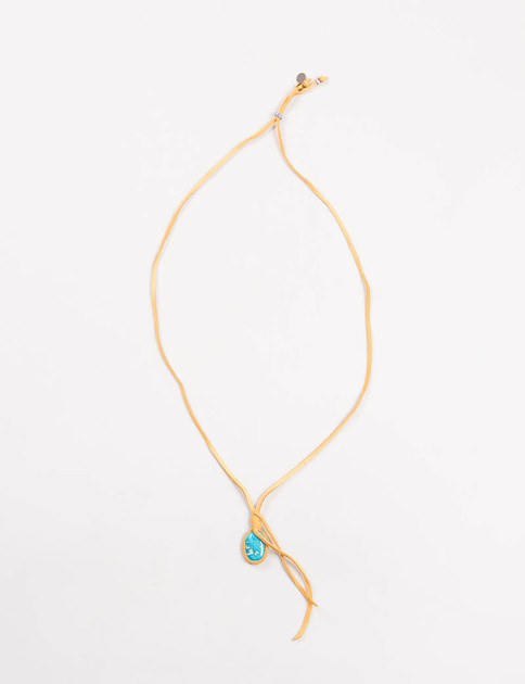 Turquoise Suede Necklace