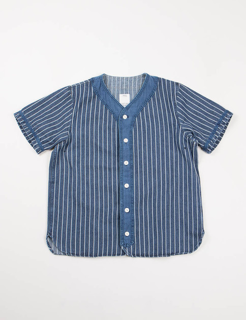 Indigo Stripes S/S Dugout Shirt