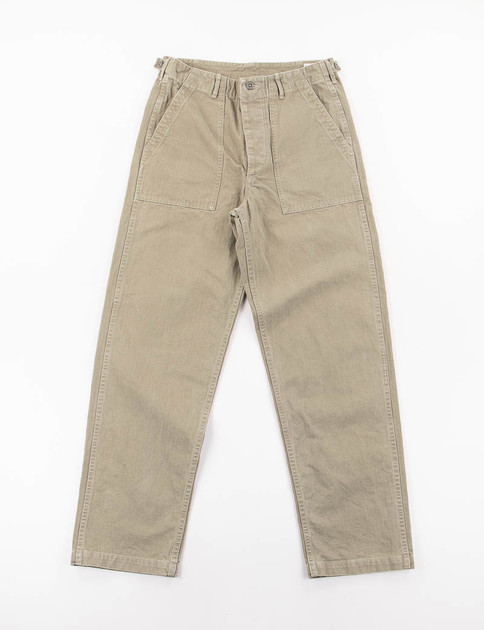 Green Used Herringbone Regular Fit US Army Fatigue Pant