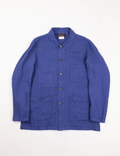 Blue Overdyed Linen Hydrone Jacket