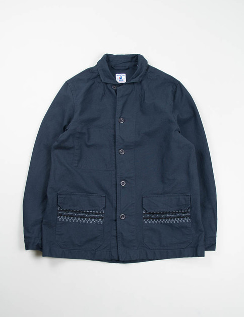 Navy Cotton Serge Bigouden Jacket