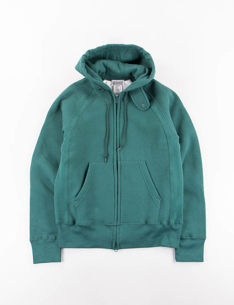 Green Raglan Zip Hoody