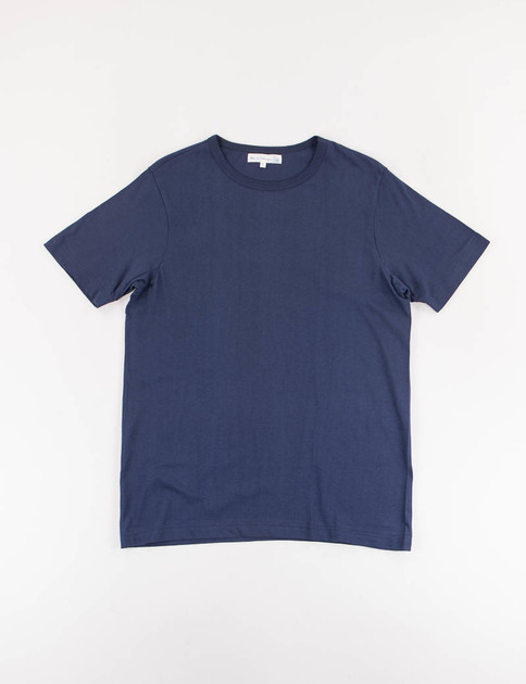 Ink Blue 1950s Organic Crew Neck Tee