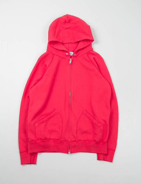 Red Hooded Zip Sweat