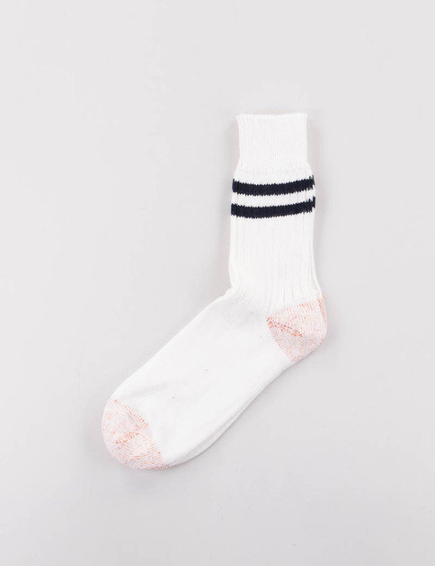 White/Ink B75 Organic Cotton Striped Socks