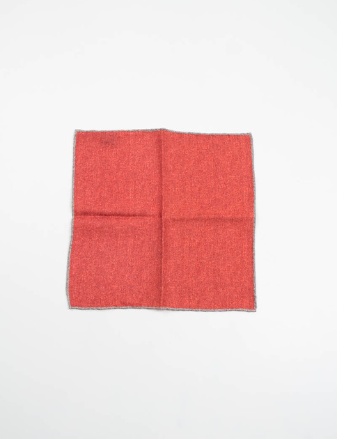 Red Wool Pocket Square